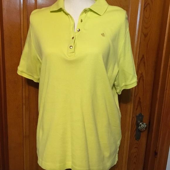 b5186f31 Lauren Ralph Lauren Tops | Bright Neon Yellow Golf Shirt | Poshmark